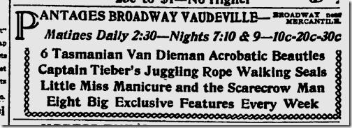 Jan. 23, 1913, Vaudeville