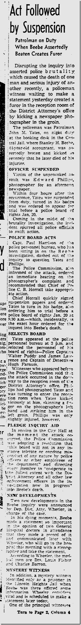 Jan. 13, 1943, Beebe Inquest