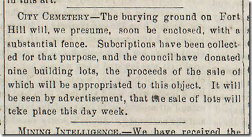 Jan. 10, 1863, Cemetery