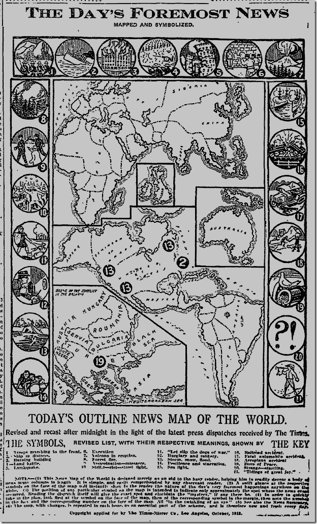 Jan. 9, 1913, News Map