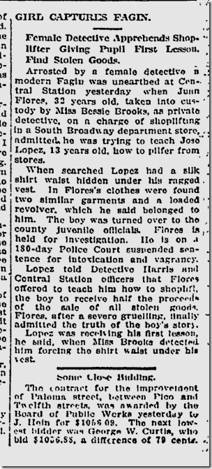 Jan. 9, 1913, Shoplifter