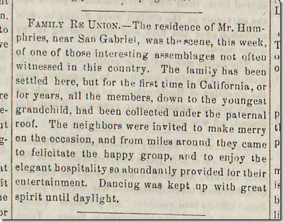 Jan. 17, 1863, Family Reunion