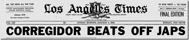 Jan. 4, 1942, Corregidor