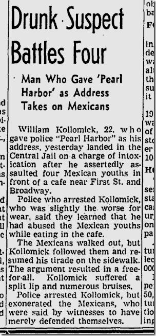 Jan. 4, 1942, Brawl