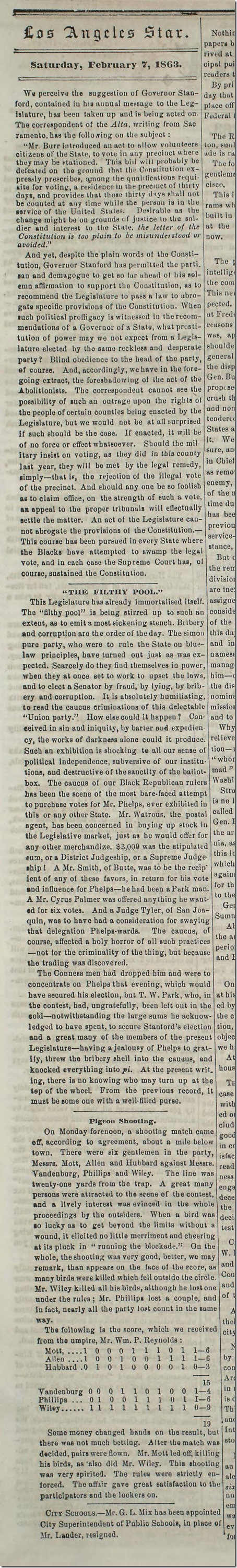 Feb. 7, 1863, Editorial