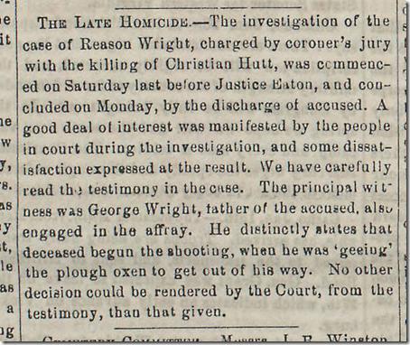 Feb. 7, 1863, Homicide