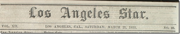 March 21, 1863, Los Angeles Star