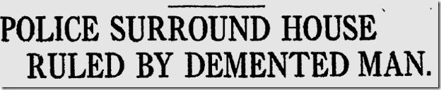 March 13, 1913, Standoff