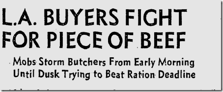 March 28, 1943, Meat Rationing