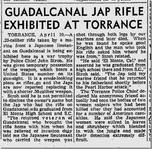 April 11, 1943, Encounter