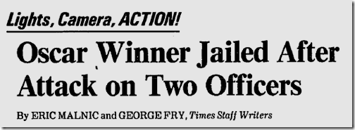 April 12, 1983, Oscar Arrest