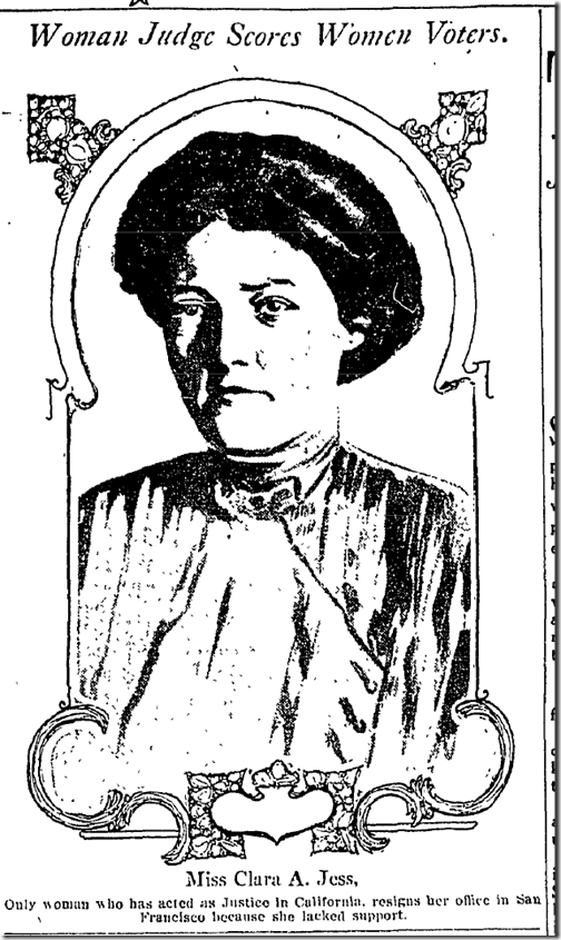 April 17, 1913, California's First Woman Judge