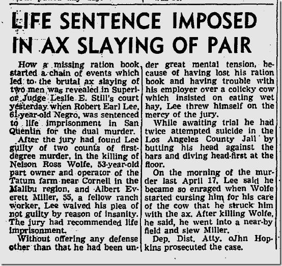 Aug. 14, 1943, Ax Killing