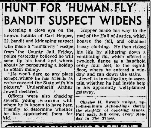 April 4, 1943, Human Fly