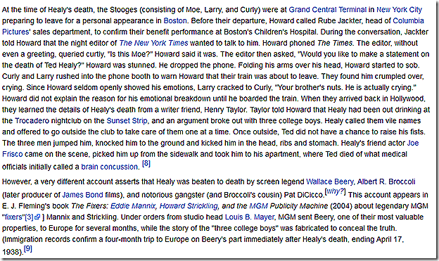Wikipedia -- Ted Healy