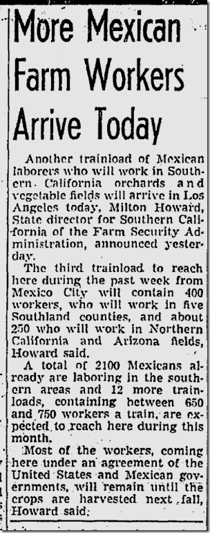 April 4, 1943, Mexican Workers