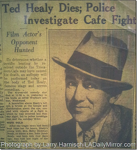 Dec. 22, 1937, Ted Healy