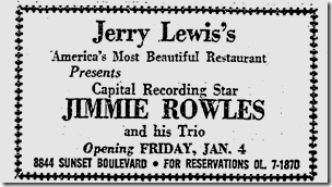 Jerry Lewis Restaurant, Jan. 4, 1963