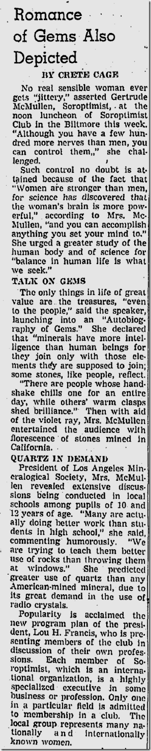 April 29, 1937, Gertrude McMullen