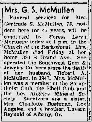 Aug. 8, 1950, Gertrude McMullen