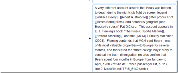 Wikipedia, Ted Healy Revert
