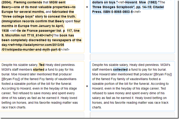 Wikipedia on Ted Healy
