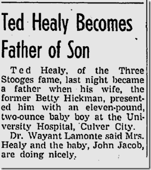 Healy Son Born, Dec. 18, 1937