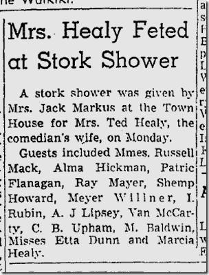 Oct. 17, 1937, Healy Baby Shower