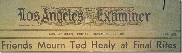 Dec. 24, 1937, Ted Healy Funeral