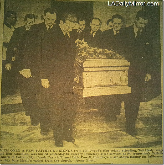 Dec. 23, 1937, Ted Healy's funeral