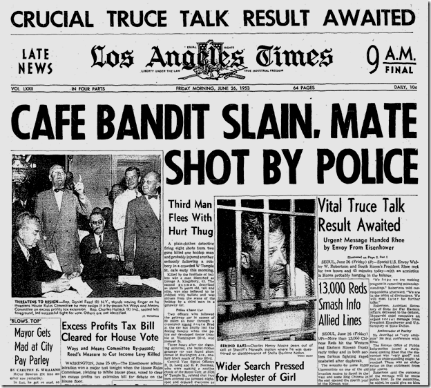 June 26, 1953, Roost Holdup