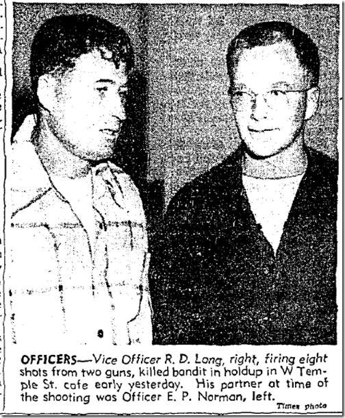 June 27, 1953, Roost Holdup