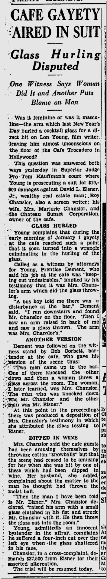 April 26, 1935, Trocadero