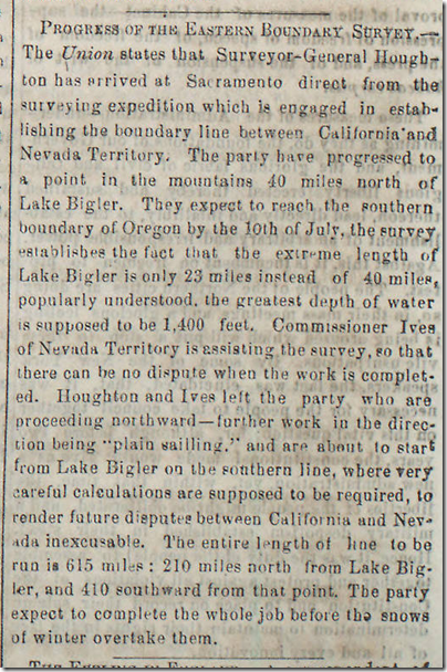 July 4, 1863, Border Survey