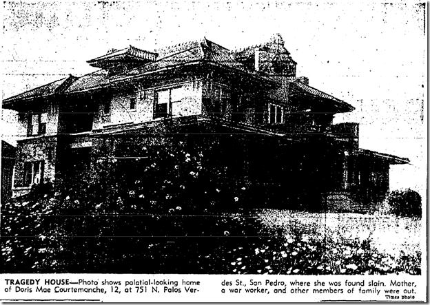 April 22, 1943, Courtemanche house