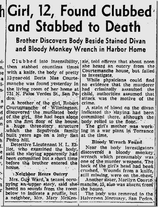 April 22, 1943, Courtemanche killing