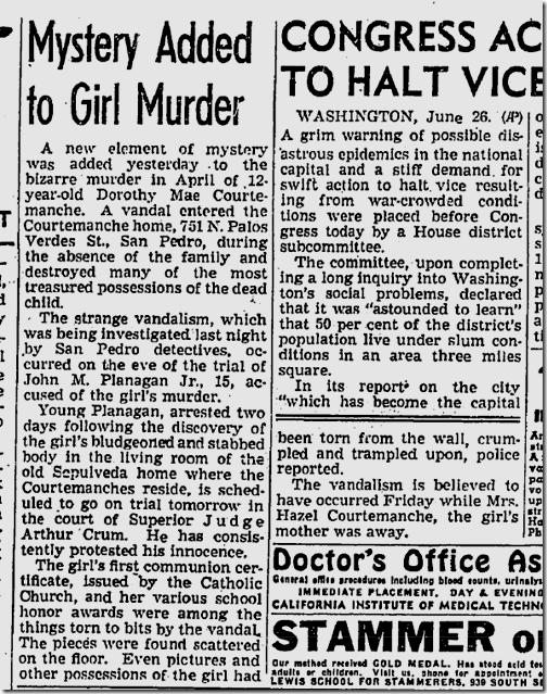 June 27, 1943, Courtemanche