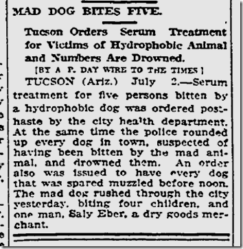 July 3, 1913, Mad Dog