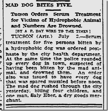 July 3, 1913, Mad Dog
