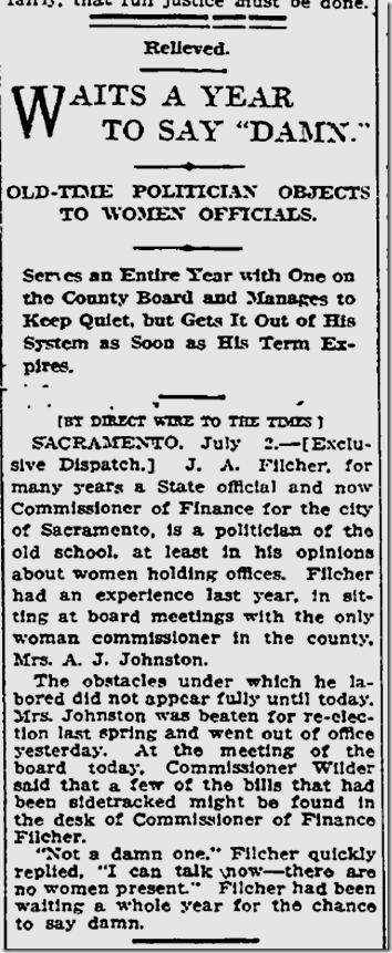 July 3, 1913, Damn