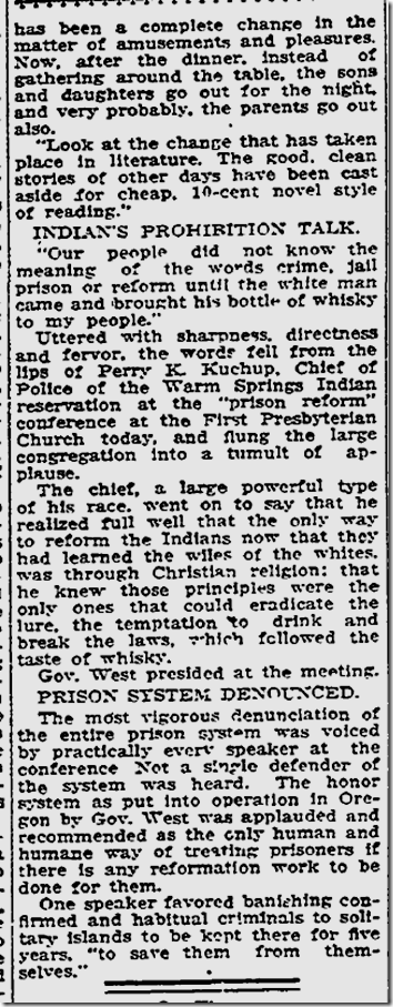 July 3, 1913, Our wayward times