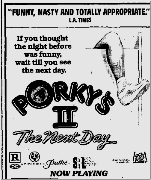 July 5, 1983, Porky's II