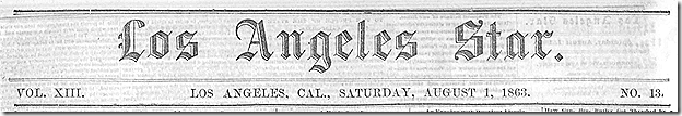 Aug. 1, 1863, Los Angeles Star