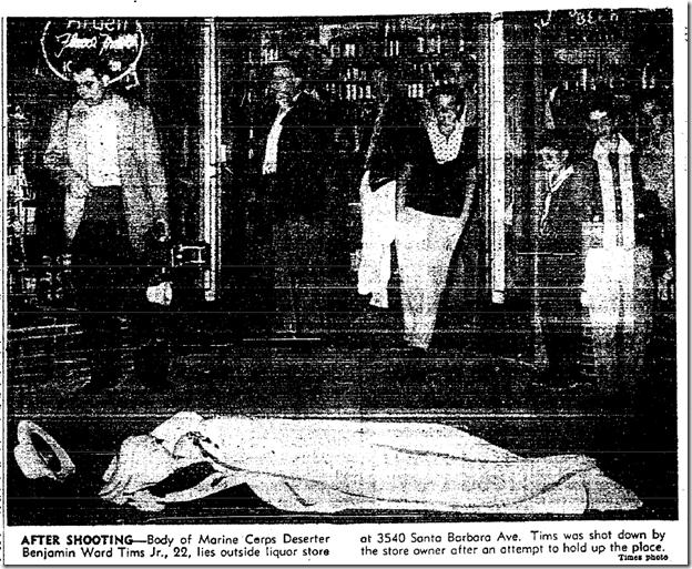 Aug. 9, 1953, Robber Killed