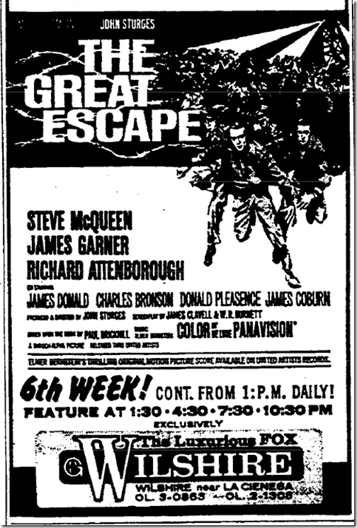 Aug. 9, 1963, The Great Escape