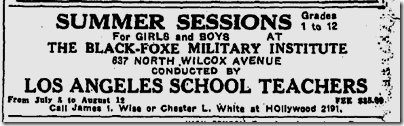 May 1, 1932, Black-Foxe Military INstitute
