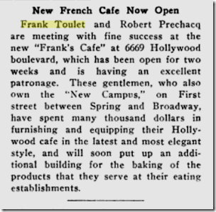 Oct. 11, 1919, Frank's Cafe
