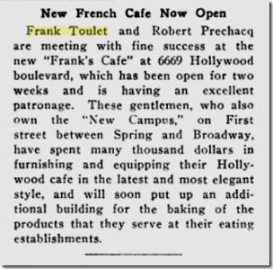 Oct. 11, 1919, Frank's Cafe