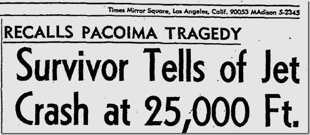 July 12, 1963, Jet Crash