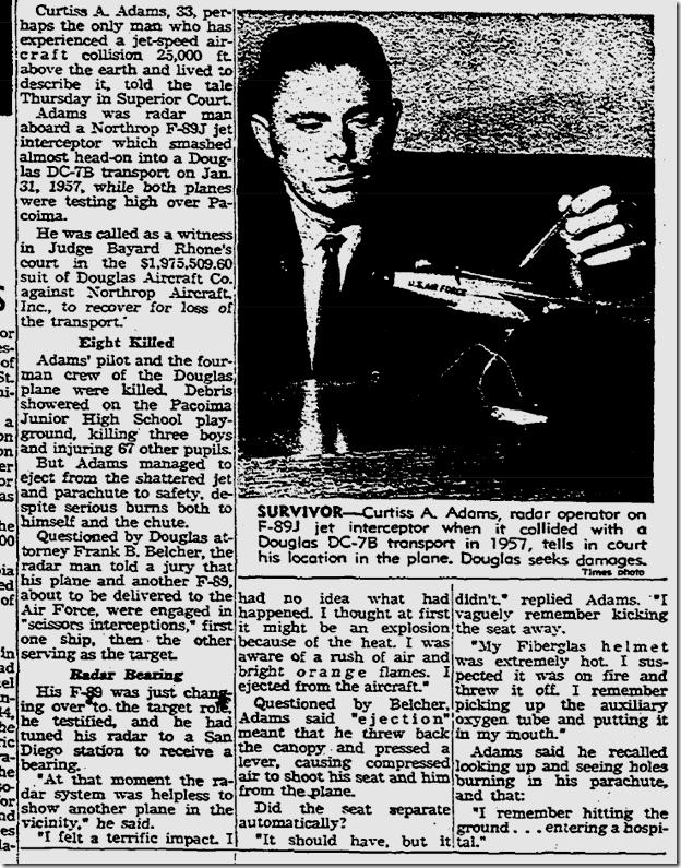 July 12, 1963, Plane Crash